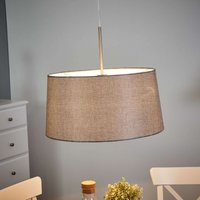 Hanging light SVEDALA with fabric lampshade  grey