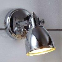 Simple wall light FJ LLBACKA in chrome
