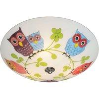 Child friendly ceiling lamp Ugglarp  owl motif