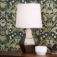 Table lamp Ruby with a silver ceramic base