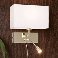 With an LED reading lamp   wall light Savoy