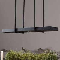 Smart LED hanging lamp Tray in black