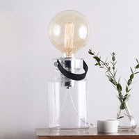 Stylish table lamp Adrian with a transparent base