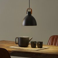 Hanging lamp Eagle with metal lampshade  black