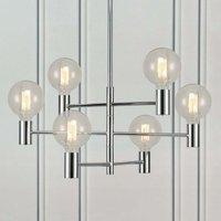 Chrome plated Capital hanging lamp  six bulb