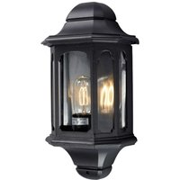 Outdoor wall light Nadja with antique look  black