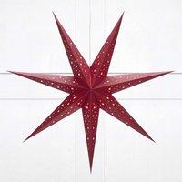 Dark red paper star Solvalla