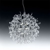 Modern hanging light ASTRO  9 bulbs  clear
