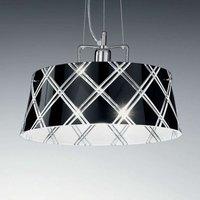 Elegant hanging light CORALLO 40 1 bulb  black