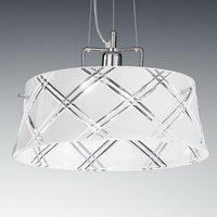 Elegant hanging light CORALLO 40 1 bulb  white