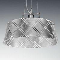 Elegant hanging light CORALLO 40  1 bulb  silver