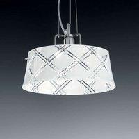 Elegant hanging light CORALLO 30 1 bulb  white