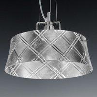 Elegant hanging light CORALLO 30 1 bulb  silver