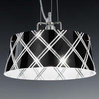 Elegant hanging light CORALLO 30 1 bulb  black