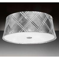Silver coloured ceiling lamp Corallo 40 2 bulb