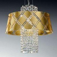 Elegant hanging light MEDUSA 40 1 bulb  gold