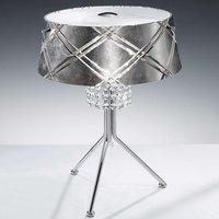 Elegant table lamp MEDUSA 2 bulb  silver
