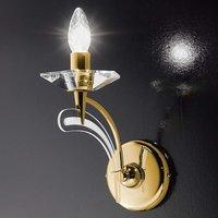 Wall light ICARO with crystal glass  gold