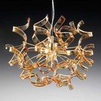 Attractive hanging light Amber 40 cm diameter