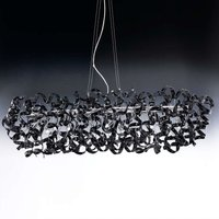 Hanging light Black with a futuristic appearance