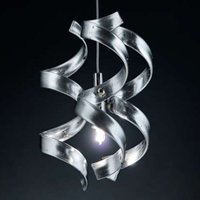 Slender hanging light Silver one bulb
