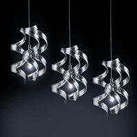 Graceful hanging light Silver 3 bulb