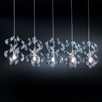 Graceful hanging light Silver 5 bulb