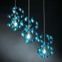 Fascinating hanging light Blue three bulb