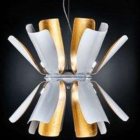 Designer hanging light Tropic with gold leaf