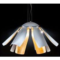 Gold leaf designer hanging light Tropic 100 cm