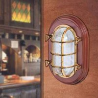 Ceiling or wall light Ocean  brass