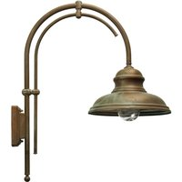 Luca outdoor wall light with a double arm