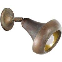 Abbe   wall light with stylish brass finish