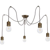 Adjustable hanging lamp Orti in a nostalgic look