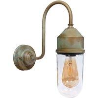 1950N wall light antique brass  clear glass
