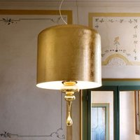 Sophisticated hanging light Eva S3 1 gold