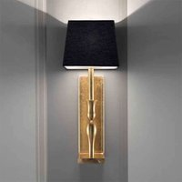 Black and gold wall light Slim