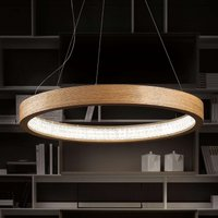 Natural LED hanging light Libe Round  90 cm