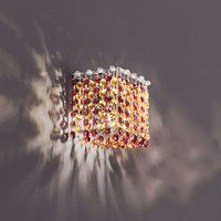Sparkling wall lamp Aurea in red amber