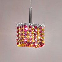 Crystal hanging lamp Aurea 10x10 cm  red amber