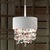 Pendant lamp Ola with colourful glass hanging
