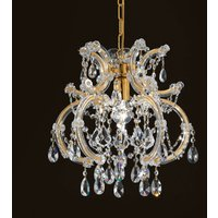 Deira domed crystal hanging light