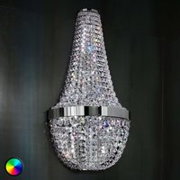 Ilaria   sparkling wall light w colour change LED
