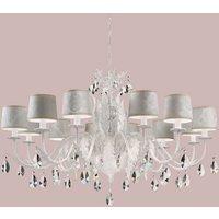 Angelis 12 bulb crystal chandelier  white