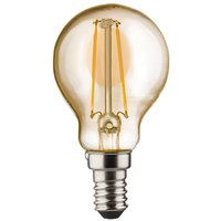 E14 2 W 820 LED golf ball bulb  gold