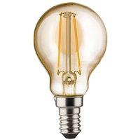 E14 2 W 820 LED golf ball bulb  gold