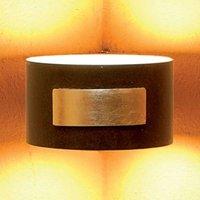 SMALL wall light f  corner installation  rust gold