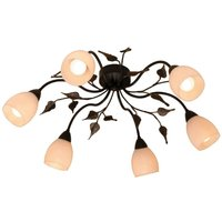 CHALET floral ceiling light with glass tulips