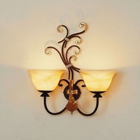 Florence two bulb wall light