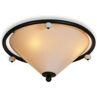 Provence ceiling lamp  scavo smoked glass shade